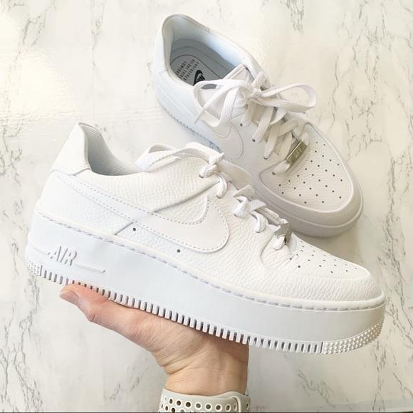 nike air force 1 white platform